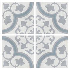 Havana Silver Ornate Matt - Glazed Porcelain Wall & Floor Tile by Gemini from CTD Tiles Ceramic Floor Tiles, Bathroom Floor Tiles, Wall And Floor Tiles, Porcelain Tile, Bathroom Wall, Bathroom Ideas, Tiles Texture, Marble Texture, Floor Patterns