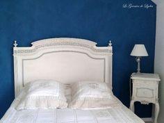 Relooking d'une tête de lit Louis XVI - Relooking de meubles, meubles patinés, décoration, patine patine sur meubles val d'oise