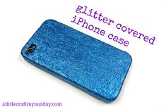 Make a glittered phone case using Mod Podge