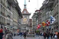 Bern, Switzerland. The town has a bear pit where bears have been kept since 1480.