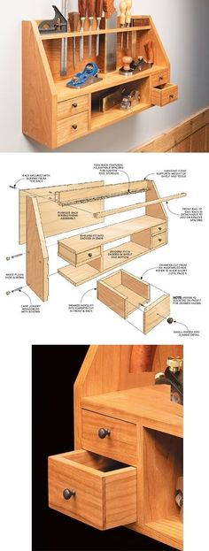 Reverse a shelf and drill holes in it. Love it
