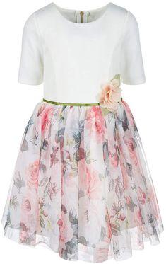 7660143a481 Little Girls Ponté Knit Floral-Print Dress