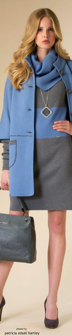 Color fashion Glam / Luisa Spagnoli - FW 2015 women fashion outfit clothing style apparel @roressclothes closet ideas