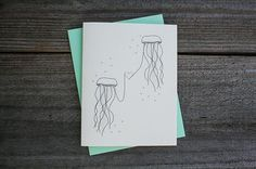 Jellyfish Heart Greeting Card