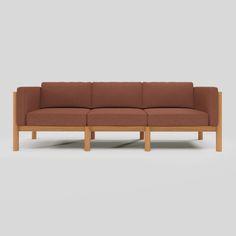 The Sofa: A Modern Teak Outdoor Loveseat | Neighbor Outdoor Loveseat, Loveseat Sofa, Couch, Sofa Sale, Sunbrella Fabric, Light Of My Life, Modular Sofa, Outdoor Fabric, Cushion Covers
