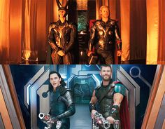 Then and now --- Thor and Loki. Can't wait for Ragnarok!