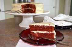 Slippers by Day: Delectable Red Velvet Cake