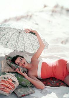 1950's beachwear photo karen radkai 1954