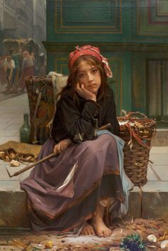 The Young Rag Seller Guillaume-Charles Brun (1825-1908)