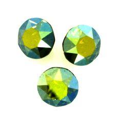 Eureka Crystal Beads - 1088 8mm(SS39) Chaton CRYSTAL IRIDESCENT GREEN Swarovski Crystal Stones (6 pcs), $2.80 (http://www.eurekacrystalbeads.com/1088-8mm-ss39-chaton-crystal-iridescent-green-swarovski-crystal-stones-6/)