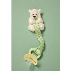 FREE Crochet Teddy Pacifier Holder