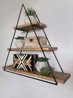 Home Decor Furniture, Home Decor Bedroom, Home Living Room, Room Decor, Wood Shelves, Floating Shelves, Mountain Decor, Mountain Shelf, Palette Projects