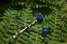 Lapis Lazuli Hair Pins Quantity of 2 by DejaVuDesignz2 on Etsy