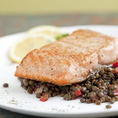 This Seared Salmon With Lentils would make a great main course this Easter.