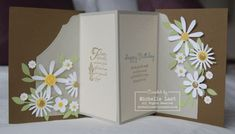 8/13/2012; Michelle Last on her blog; Wow... this is the inside of the card. BEAUTIFUL!!!