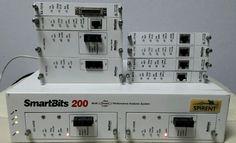 Spirent SmartBits SMB-200 W/ (2)GX-1405B, ST-6410, ML-7710 (1)AT-9155C, AT-9622s #SpirentNetCom