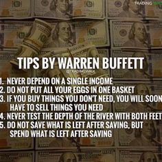 Great post from @tradingwalk Tips by Warren Buffett  Share in the comments some of the excuses either you have heard or have made has kept you from being profitable. Like it Love it and Share it if you agree!  Tag a friend that needs to see this! FOLLOW @sellandsucceed for AWESOME DAILY WISDOM MOTIVATION & INSPIRATION .