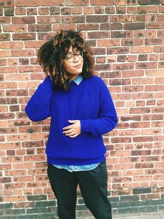 Don't be afraid to leave your shirt untucked under your sweater. | 19 Ways To Rock Androgynous Style Like No Other
