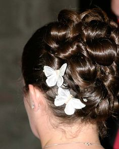 Brunette Bride with Two Butterflies for Wedding Hair Accessories
