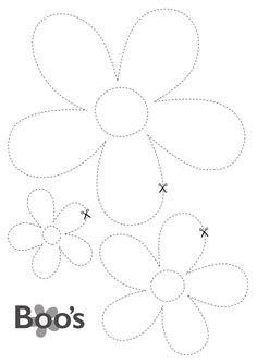 printable flowers - boo's door