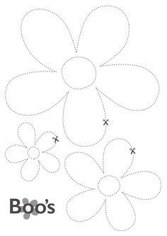printable flowers - boo's door