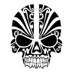 Skull Die Cut Vinyl Decal PV986