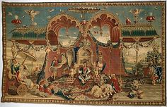 Guy Louis Vernansal the Elder (French, 1648–1729). The Audience of the Emperor from the series The Story of the Emperor of China, designed ca. 1685–90, woven ca. 1685–1740. The Metropolitan Museum of Art, New York. Gift of Mrs. J. Insley Blair, 1948 (48.71) | This whimsical tapestry reflects a17th-century, French depiction of the everyday life of a Chinese Emperor and his Empress. #tapestrytuesday