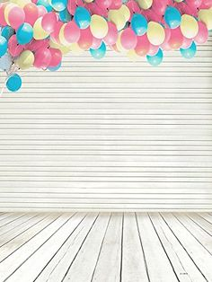 8x8FT Vinyl Wall Photography Backdrop,Abstract,Doodle Colorful Shapes Background for Baby Shower Bridal Wedding Studio Photography Pictures