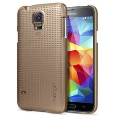 Galaxy S5 Case, Spigen® [+Screen Shield] Samsung Galaxy S5 Case Slim [Ultra Fit] [Copper Gold] Full HD Japanese... $9.99 (save $15.00)