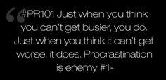 #PR101- procrastination