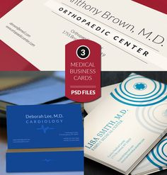 3 medical business cards - Business Cards - 1