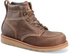 "Double H Boot Men's 6"" Domestic Steel Toe Moc Toe Lacer"