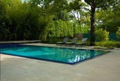 Украшения: - Роскошь плавательный бассейн и сад на крыше роскошный современный Home Design Средняя версия
