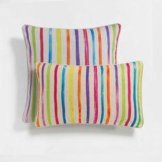 Imagen del producto Funda de cojín lino rayas multicolor