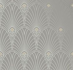 Bradbury Art Deco Designs | Havana Retro Wallpaper in Pewter