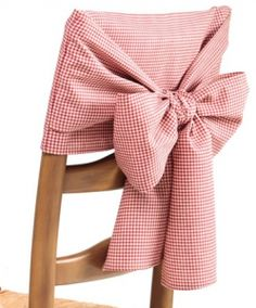 Cotton Gingham Check And Solid Chair Bows Chair Back Covers, Dining Room Chair Covers, Chair Bows, Diy Chair, Desk Chair Target, Garden Lounge Chairs, Kitchen Chairs, Dining Chairs, Gingham Check