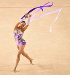 Margarita Mamun, Russia, World champion in ribbon and in ball (Izmir 2014)