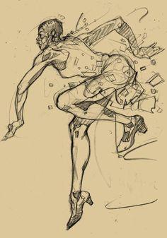 turecepcja: Harlem Swing Dance Studies by Martin French (Tu recepcja) Gesture Drawing, Guy Drawing, Drawing Sketches, Drawings, Body Gestures, French Illustration, Swing Dancing, Visual Aids, Branding