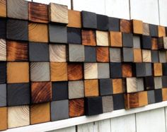 Wood Wall Art or Queen Headbord by WallWooden on Etsy