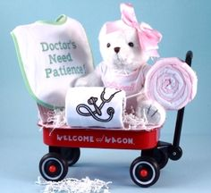 New Arrival!!! Personalized Baby Gift- Future Doctor Gift Wagon (Girl)