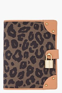 #Mulberry leopard notebook cover