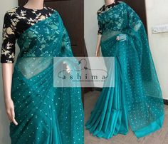 - Price , Linen Organza Saree With Embroidered Blouse. Modern Indian Saree CLICK VISIT link above for more options Saree Jacket Designs, Sari Blouse Designs, Saree Blouse Patterns, Stylish Sarees, Trendy Sarees, Indian Attire, Indian Outfits, Organza Saree, Organza Dress