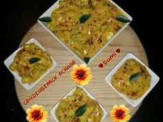 Condensemilk Achaar recipe by Sumayah posted on 21 Jan 2017 . Recipe has a rating of by 1 members and the recipe belongs in the Miscellaneous recipes category Halal Recipes, Real Food Recipes, Food Categories, Preserves, Guacamole, Pickles, Chutneys, Ethnic Recipes, Dips