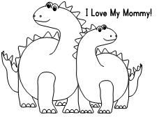 Printable Coloring Page for Dinosaurs created by Making Learning Fun.