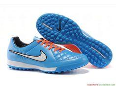 new product f2ed0 867db Hete Verkoop Nike Tiempo Legend V TF – BlauwOranjeWitZwart Messi