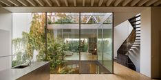 Image 1 of 22 from gallery of House Refurbishment in Seville Historic Center / Harald Schönegger + Inmaculada González. Photograph by Fernando Alda Photo Room, Home Photo, Spanish Architecture, Architecture Details, Archdaily Mexico, Casa Patio, Timber Beams, Glass Facades, Spanish House