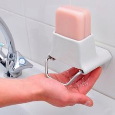 Might actually use up a whole bar of soap with this gizmo. -- This reminds me of elementary school.