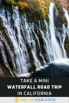 Discover 5 beautiful waterfalls on this short, sweet road trip. It's a perfect springtime adventure for families and photographers alike. California Travel, Northern California, Spring Break Vacations, Famous Beaches, Hidden Beach, Big Sis, Local Attractions, Beautiful Waterfalls, Summer Bucket