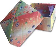 Folded Box Top with video tutorial {Yasutomo} #papercrafting #craft  class Marsha taught