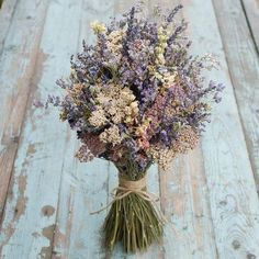 Midnight Haze Dried Flower Bouquet - Our rustic, Bridal Bouquets are a great alternative to create a wild and bohemian look to your day. Bouquet Bride, Flower Girl Bouquet, Bridesmaid Bouquet, Wedding Bouquets, Wedding Flowers, Lavender Bouquet, Flower Farmer, Flower Company, Wedding Abroad